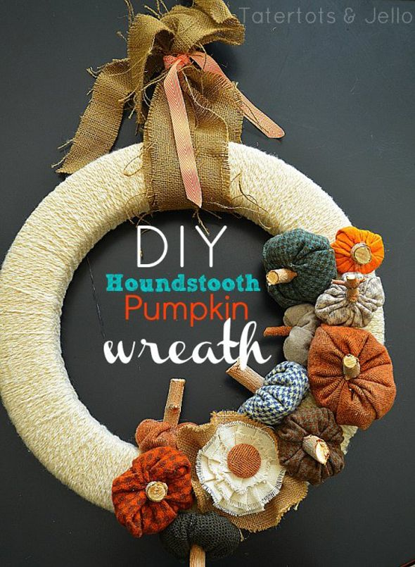 DIY Fall Budget Decorating Fabric Wreath