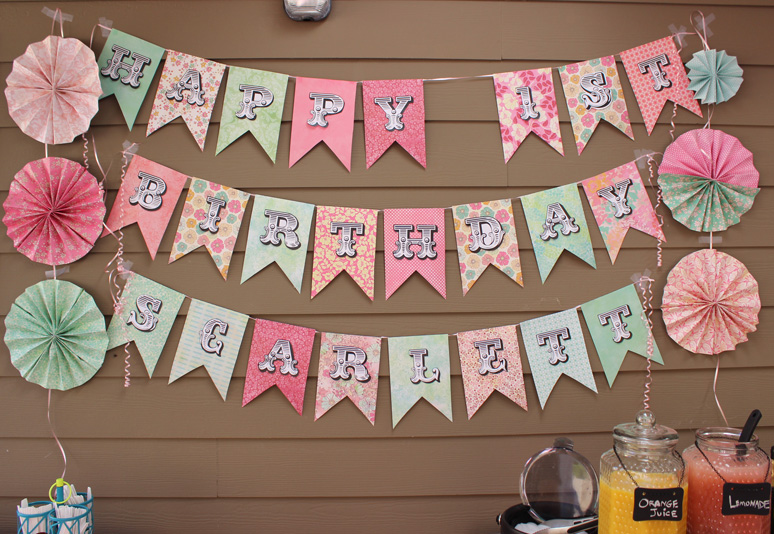 DIY Paper Party Banner