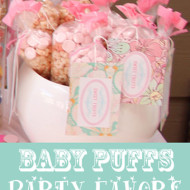 DIY Baby Birthday Party Favors