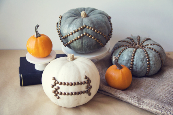 DIY Nailhead Pumpkins Fall Decorating Budget