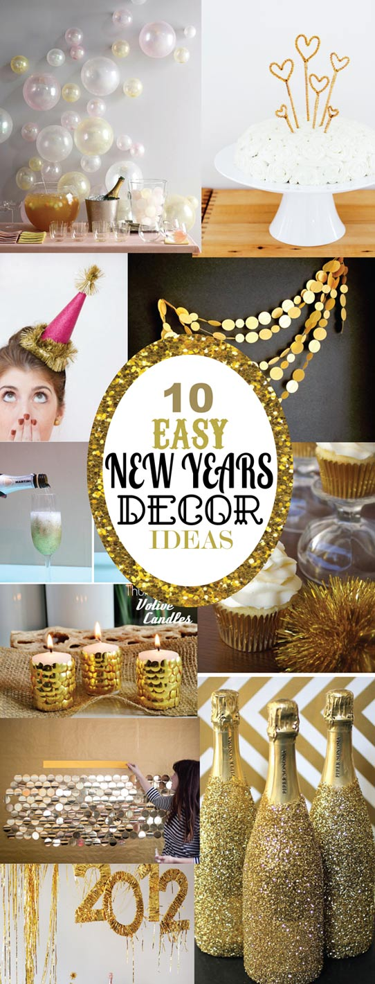10 easy new years decorating ideas sohosonnet creative for Decoration new year