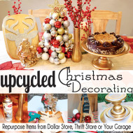 Upcycled Christmas Decorating