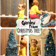 Garden Frame Garland Christmas Tree