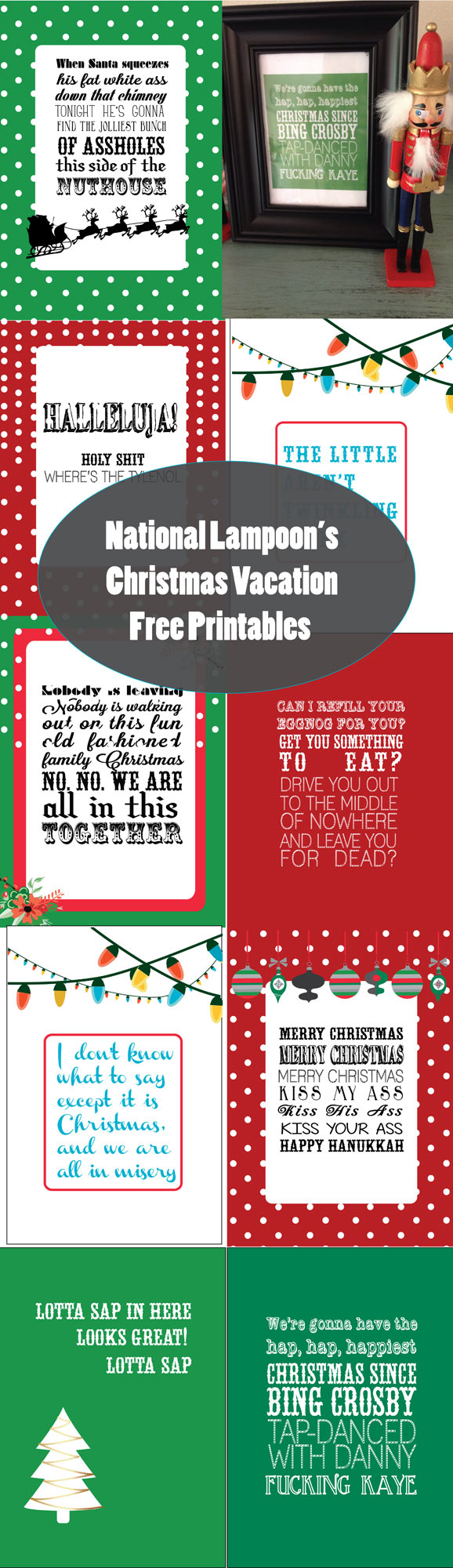 Quotes From Christmas Vacation.National Lampoon S Christmas Vacation Free Printables