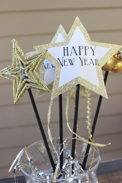 Happy New Year Wands for Kids