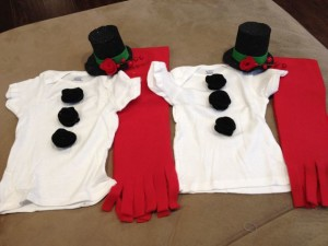 Snowman Girls Outfit