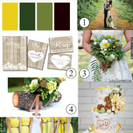 Rustic Wedding in the Woods Inspiration Board