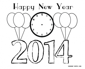 New Year Coloring Page Printable