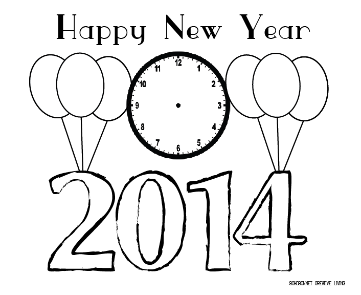 new years countdown coloring pages - photo#23