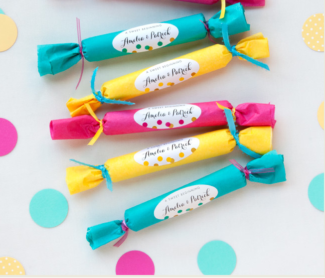 TISSUE CANDY DIY WEDDING FAVORS UNDER 1$ {SohoSonnet Creative Living}