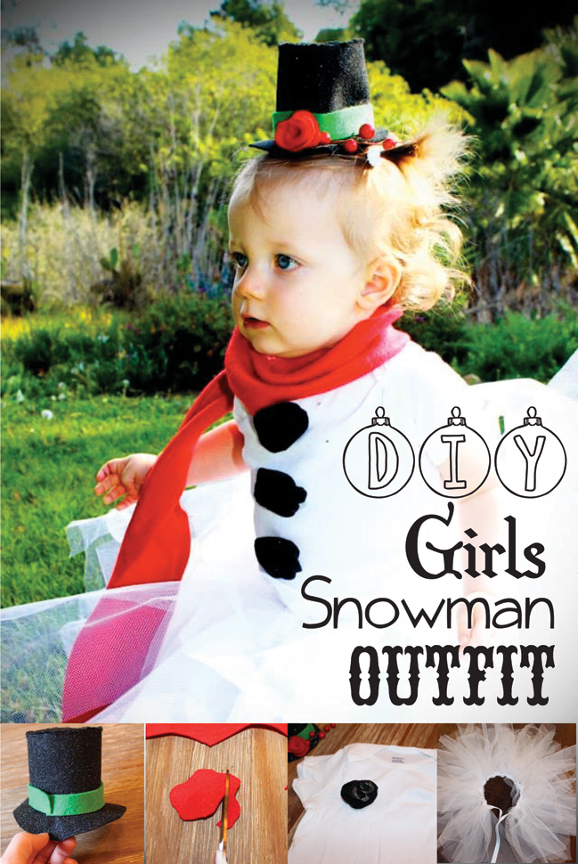 DIY Girls Snowman Outfit