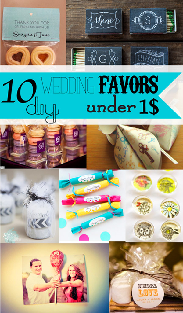 10 DIY WEDDING FAVORS UNDER 1$ {SohoSonnet Creative Living}