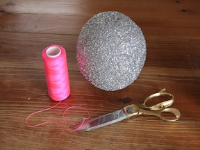 New Years Kids Craft Glitter Ball