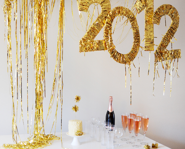New Years Party Tinsel Sign