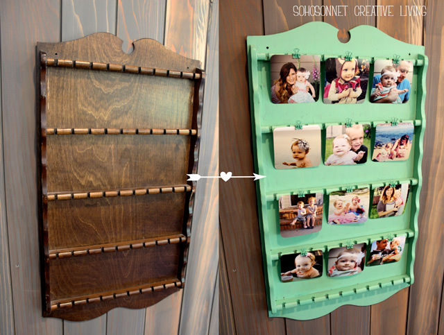 Upcycle Picture Hanger Spoon rack