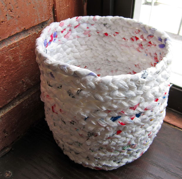 Plastic Bag Ropes Basket