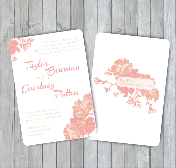 Gold and Pink Wedding Inspiration Mood Board SohoSonnet Creative – Gold and Pink Wedding Invitations