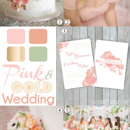 Gold and Pink Wedding Inspiration Mood Board