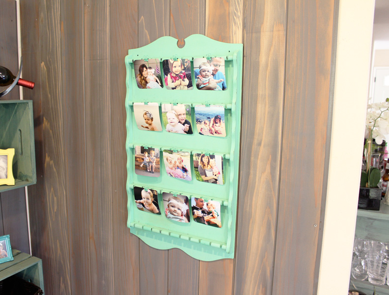 Upcycled spoon hanger picture frame