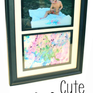 Cute Way To Frame Your Child's Artwork