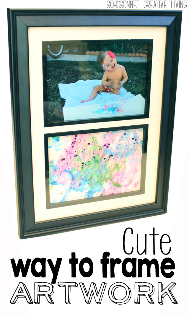 Cute Way To Frame Your Child 39 S Artwork Sohosonnet