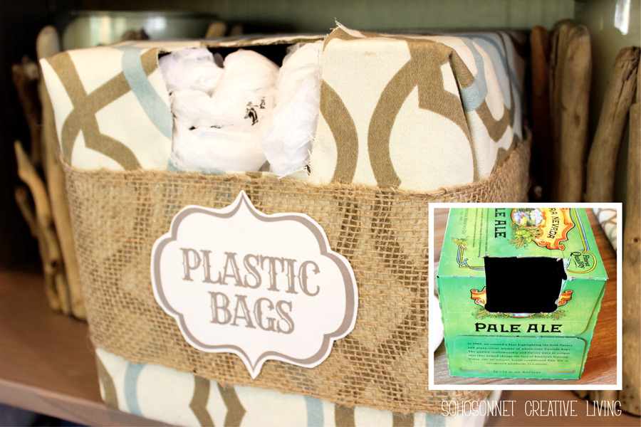 Plastic Bag Storage Bin Holder