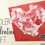 Toddler Painted Valentine Heart Craft
