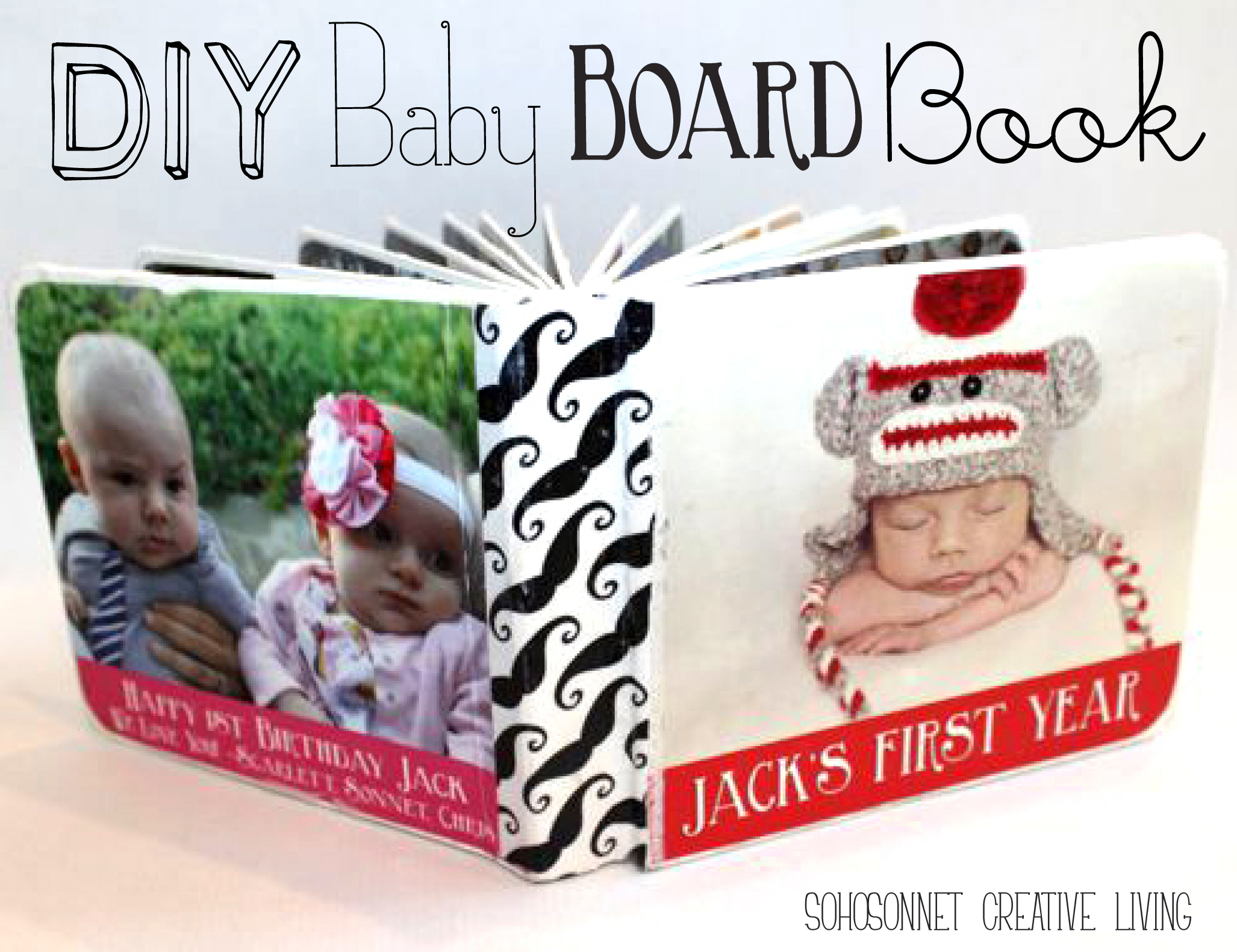 diy baby picture board book sohosonnet creative living