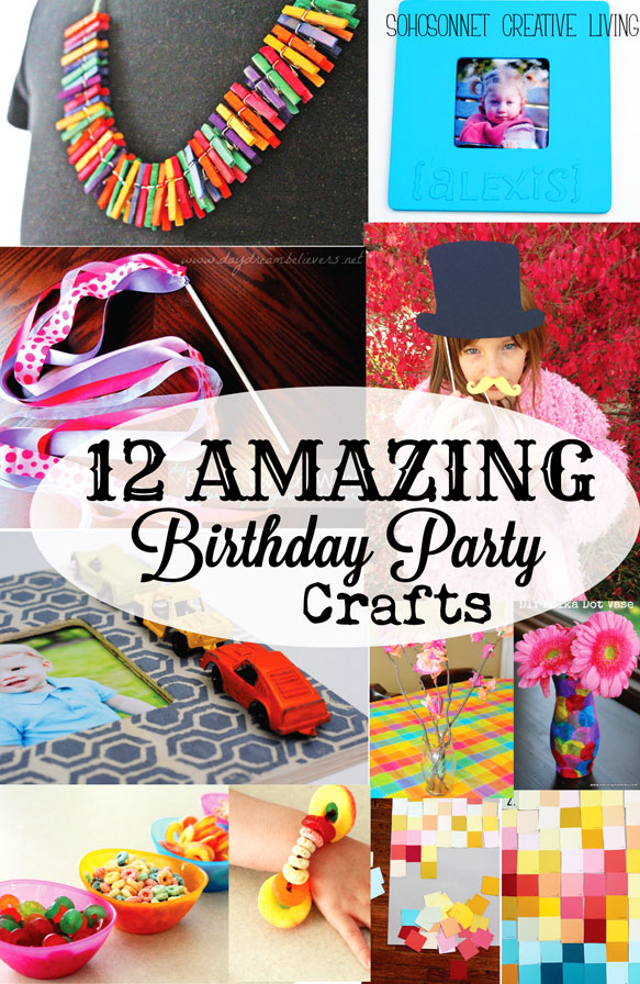 12 birthday party craft activities for kids sohosonnet for Crafts for birthday parties