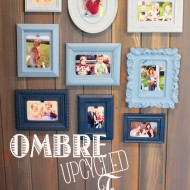 Ombre Upcycled Picture Frame Collage
