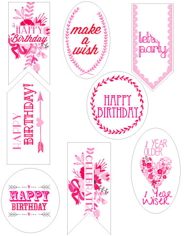 Birthday Gift Tags From Sohosonnet Creative Living