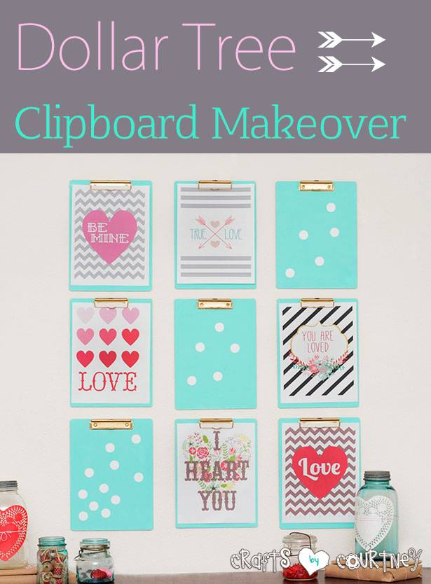 crafts by courtney Valentine Clipboard makeover
