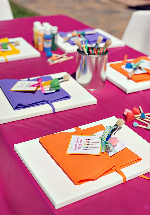 Superb Kids Party Craft Ideas Part - 1: Paint-party1