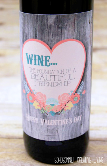 Valentines Day Wine And Beer Gift Labels Sohosonnet Creative Living