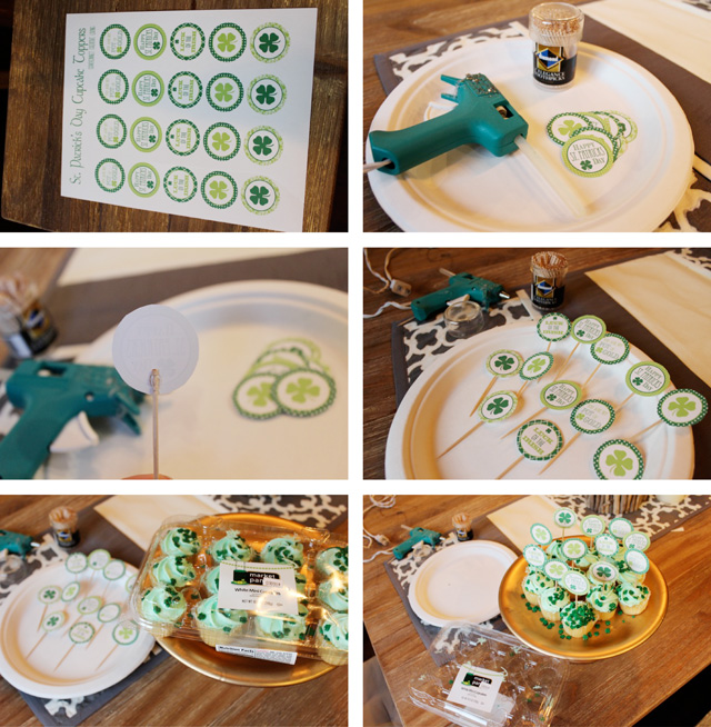 St. Patricks Day Cupcake Toppes Free Printables
