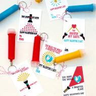 Free Flashlight Valentine Printables