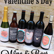 Valentines Day Wine and Beer Gift Labels