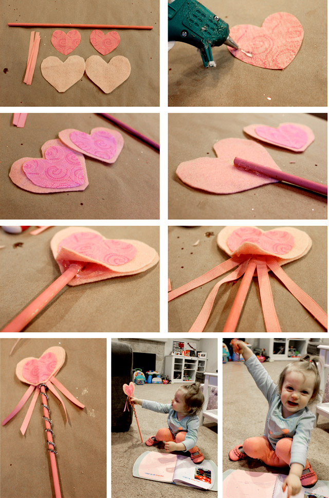DIY Wand crown  Valentine Tutu Heart Toddler outfit tutorial