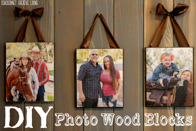 DIY Wood PIcture Block Mod Podge
