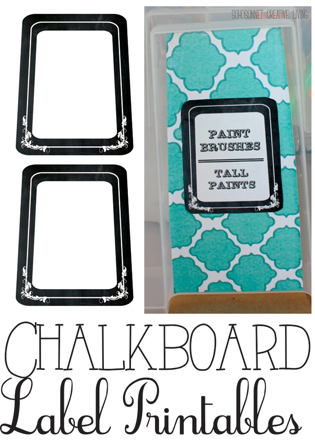 graphic about Printable Chalkboard Labels titled Free of charge Printable Chalkboard Labels Binders and Storage