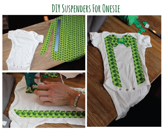 Easy DIY Boys Bow Tie Oneslie St. Patricks day