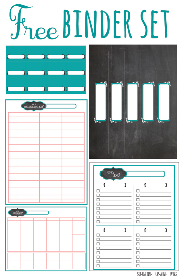 picture regarding Free Printable Organizing Labels referred to as Cost-free Printable Chalkboard Labels Binders and Storage