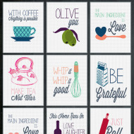 Kitchen Printables {Guest Post at Happy Housie}