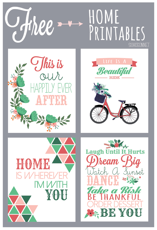 Punchy image with regard to free printables for home