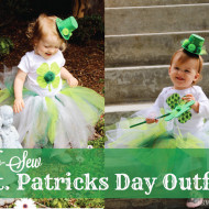 DIY {No Sew} St. Patrick's Day Toddler Tutu Dress