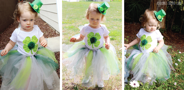 St. Patricks day toddler outfit Tutu Dress hat Wand - SohoSonnet