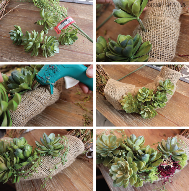 Rustic Succulent Grapevine Wreath