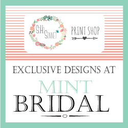 SohoSonnet Wedding Invitations Mint bridal