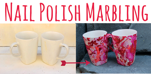 Nail polish marbling diy 1 mugs solutioingenieria Image collections