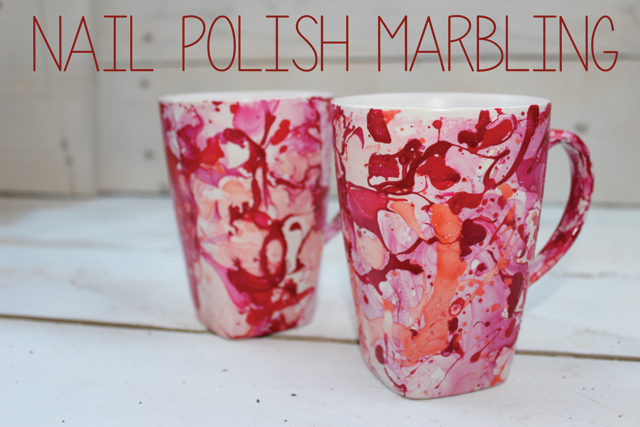 Nail polish marbling diy 1 mugs diy nail polish marble mug solutioingenieria Image collections